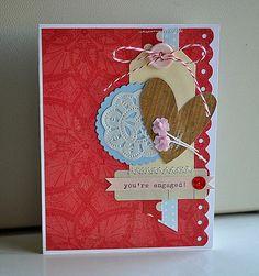 Handmade engagement card