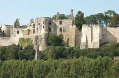 Ruins of Chateau de Chinon, Loire Valley, France