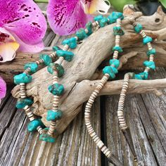 Turquoise And Shell Sterling Silver Santo Domingo Heishi Necklace | Santo Domingo Jewelry | Bohemian Jewelry | Native American Necklaces | B by EraofJewelry on Etsy https://www.etsy.com/listing/527222207/turquoise-and-shell-sterling-silver