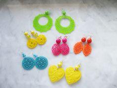 Orecchini resina in tanti colori estivi!