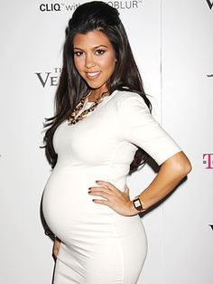 Kourtney Kardashian - I want a bump like this.
