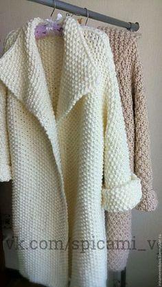 Fabulous Crochet a Little Black Crochet Dress Ideas. Georgeous Crochet a Little Black Crochet Dress Ideas. Cardigan Au Crochet, Crochet Coat, Knitted Coat, Crochet Jacket, Cardigan Pattern, Knit Jacket, Crochet Clothes, Crochet Winter, Knit Fashion