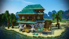 Minecraft Beach House Tutorial (Minecraft House) Minecraft Jokes, Minecraft Comics, Minecraft Tips, Minecraft Blueprints, How To Play Minecraft, Minecraft Stuff, Minecraft House Tutorials, Minecraft House Designs, Minecraft Tutorial