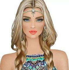 <3 Fashion Games, Fashion Dolls, Covet Fashion, Fashion Art, Girly M, Portraits, Beauty Art, Hair Art, Fashion Sketches