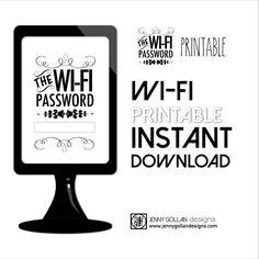 Wi-fi password printable by Jenny Gollan designs.