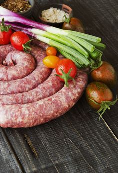 raw beef sausages pan, selective focus by Wild Drago Shop on Sausages, Spices, Beef, Shop, Meat, Spice, Sausage, Steak, Store