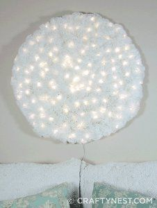 Wow your guests this holiday season when you make this Giant Coffee Filter Snowball Light. This winter decorating idea is a fabulous wall hanging for any room in your house. Be prepared to spend a couple days making this awesome snowball, because you'll need about 800 coffee filters to do so. When you finish, the results will be so worth it. Hang it on your wall and watch the amazed expressions on the faces of your guests when they see this great winter craft.