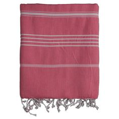 Hand-woven Turkish cotton fouta towel.   Product: TowelConstruction Material: 100% Turkish cottonColor: