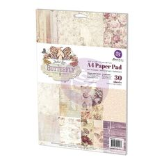 "Prima - Butterfly Collection - A4 Paper Pad (8.5"" x 11""),$9.99"