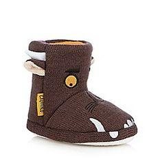 The Gruffalo - Boys' brown 'Gruffalo' slipper boots