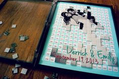 Alternative Wedding Guest Book  Puzzle Guestbook  by CForiginal, $290.00    Personalized Photo Guest Book for any wedding and perfect to hang in your home after the special day!