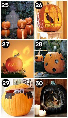 Level: medium // 100 ausgefallene Ideen Kürbisse zu schnitzen // Gesehen bei: http://www.thedatingdivas.com/holidays/halloween/150-pumpkin-decorating-ideas/