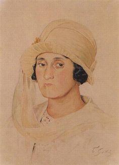 Portrait of A.K. Kashparova - Kustodiev Boris