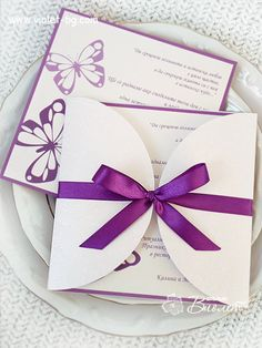 #Butterfly #wedding #invitation from www.violet-bg.com Also available at www.violet-weddinginvitations.com