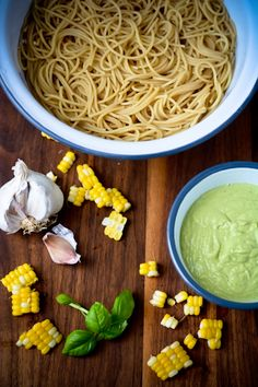 BLISS - blissful eats with tina jeffers: Pasta with sweet cornpesto