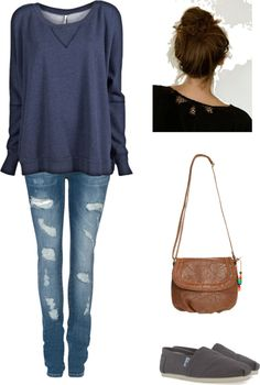 Yes, simple, cute and casual! Love it! (ACT, created by paigy59828 on Polyvore)