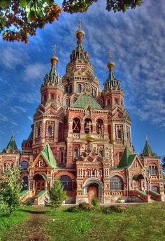 Peter and Paul Cathedral in St. Petersburg, Russia.