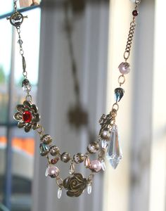 Vintage victorian necklace with antique by Lisbethstafnedesigns