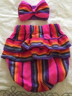 Mexican outfit baby bloomer and top mexican party first birthday day of the dead cinco de mayo halloween cambaya traditional frida kahlo Mexican Outfit, Mexican Dresses, Baby Outfits, Little Girl Fashion, Kids Fashion, Toddler Girl Style, Baby Necessities, Baby Bloomers, Baby Girl Crochet