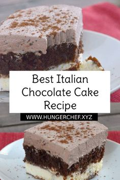 Best Italian Chocolate Cake Recipe - Guide Recipe - The ingredients and how to make it please visit the website Recipes Italian Chocolate Cake Recipe, Chocolate Cake Mix Recipes, Chocolate Cake With Coffee, Brownie Recipes, Coffee Cake, Bolo Chocolate, Italian Love Cake, Italian Cream Cakes, Italian Desserts