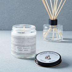 Café Scented Candle + Diffuser - Honey Tobacco | west elm