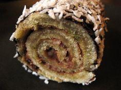 Lime, Chocolate & Coconut swiss roll (Gluten Free)