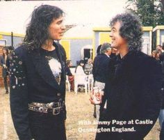 Jimmy Page, Castle Donnington. Monsters of Rock, May 1990