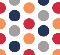 """Riley Blake Designs """"Large Dots"""" by Riley Blake Designs. Pattern measures 1 in diameter. PLEASE NOTE:The Dots are printed the length of the fabric which is parallel to the selvage. Fabric Pictures, Sewing Material, Coordinating Fabrics, Riley Blake, Drapery Fabric, Modern Fabric, Fabric Design, Sewing Patterns, House Design"""