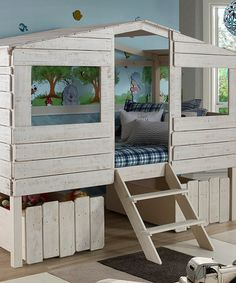 Another great find on #zulily! Twin Tree House Loft Bed #zulilyfinds