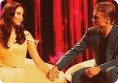Peeta and Katniss in love