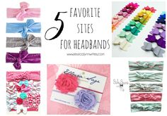 As a mama to two little girls, accessories are a must! Today I'm sharing my favorite sites for headbands and bows.