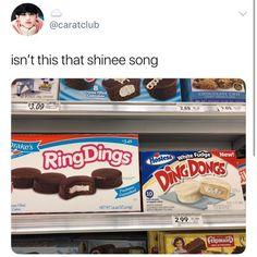 Bahahahahhahahahahaha even ice cream companies like shinee Minho, Onew Jonghyun, Funny Kpop Memes, Bts Memes, Vixx, Btob, Kdrama, Drama Memes, K Pop Memes