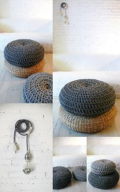 knitted poufs lacasadecotó