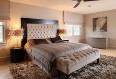 camas modernas y tejidos caseros para la decoración del dormitorio
