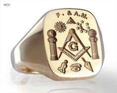Masonic trowel and plumb ring