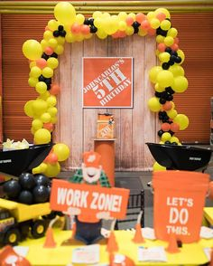 Thanks to all for your hard work and effort in making her birthday party so memorable! Happy 5th Birthday, 2nd Birthday Parties, Birthday Ideas, Construction Birthday Parties, Construction Theme, Home Depot Party, Digger Party, Kids Party Planner, Paint Party