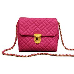 Prada Pink Quilted Chain Handbag - LuxuryProductsOnline