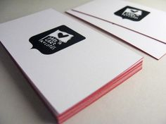 """New business cards for Dare To Care Records, a well respected Montreal based music label."""