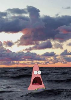 Surprised Patrick is making my life!!!! i don't know why i cant stop laughing!!!!