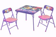 Paw Patrol Skye and Everest 3 PC Table and Chair Set Kids Art Table, Kids Table And Chairs, Table And Chair Sets, Dining Chairs, Hello Kitty Bedroom, Cat Bedroom, Bedroom Decor, Bedroom Sets, Kids Bedroom