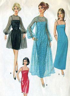 Vintage 60s McCalls 8998 CUT Misses Evening by RomasMaison on Etsy
