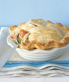 Individual Chicken Potpies - I skip the piecrusts and top with crescent rolls when making this