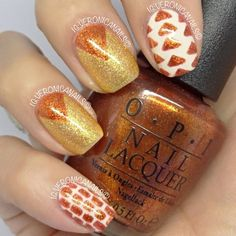 #IHeartNailArt  Nail designs with orange polish