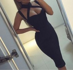 Cheap slim dress, Buy Quality party dresses directly from China dresses ladies Suppliers: 2018 Newest Women Sexy Backless Hollow Out Slim Dresses Fashion Hanging Strap Bandage Party Dress Ladies High Quality Dress Sexy Dresses, Short Beach Dresses, Backless Maxi Dresses, Party Dresses For Women, Cute Dresses, Fashion Dresses, Dresses 2016, Dresses Online, Outfits Fiesta