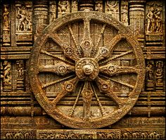 The Konark Sun Temple (also spelled Konarak) is a 13th-century Hindu temple dedicated to the Sun God. Shaped like a giant chariot, the temple is known for the exquisite stone carvings that cover the entire structure.