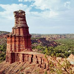 Palo Duro Canyon, Texas | Take a horseback ride through the Prairie Dog Town Fork of the Red River to see Spanish Skirt formations and a view of Sad Monkey Peak, named for the shape of the peak's cap rock, TX, USA