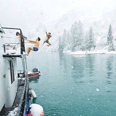 Freezing dip / Tracy Arm Fjord Alaska / Tim Banfield Photography Say Yes To Adventure