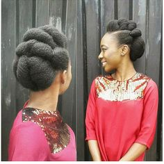 Drawing Hair Tips Natural hair updo ideas for black women - Are you a bride or bridesmaid? Then, this natural hair updo idea would be perfect for your big day and you can create it all on your own. Natural Hair Wedding, Natural Wedding Hairstyles, Natural Hair Updo, Natural Hair Styles, Wedding Updo, Natural Beauty, Trending Hairstyles, Twist Hairstyles, African Hairstyles