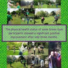The physical health status of some #GreenGym participants showed a significant positive improvement after only 3 months.
