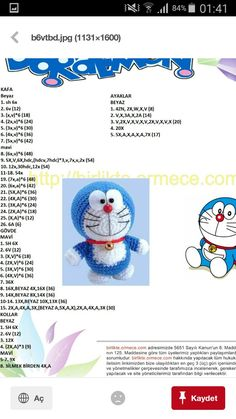Doraemon Crochet Pattern